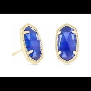 Kendra Scott Cobalt Ellie Oval Stud Earrings